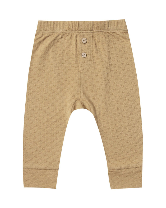 Little quincy mae baby girl pointelle pajama pant in honey
