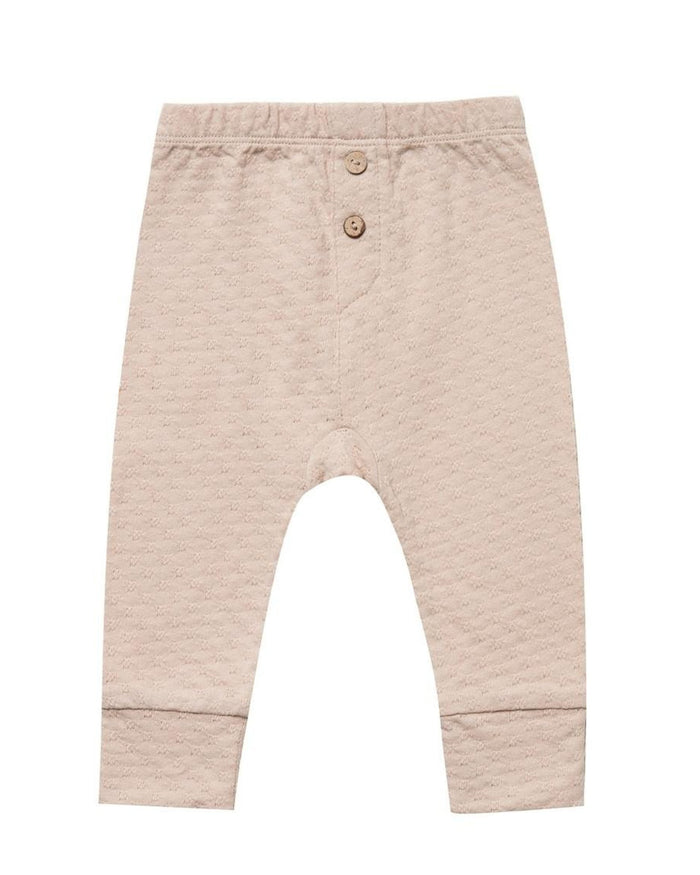 Little quincy mae baby girl pointelle pajama pant in petal