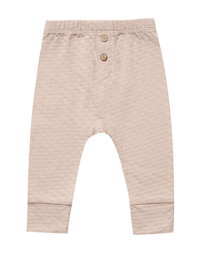 Little quincy mae baby girl 0-3 pointelle pajama pant in rose