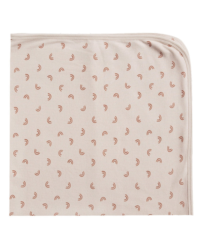 Little quincy mae baby accessories ribbed baby blanket in stone