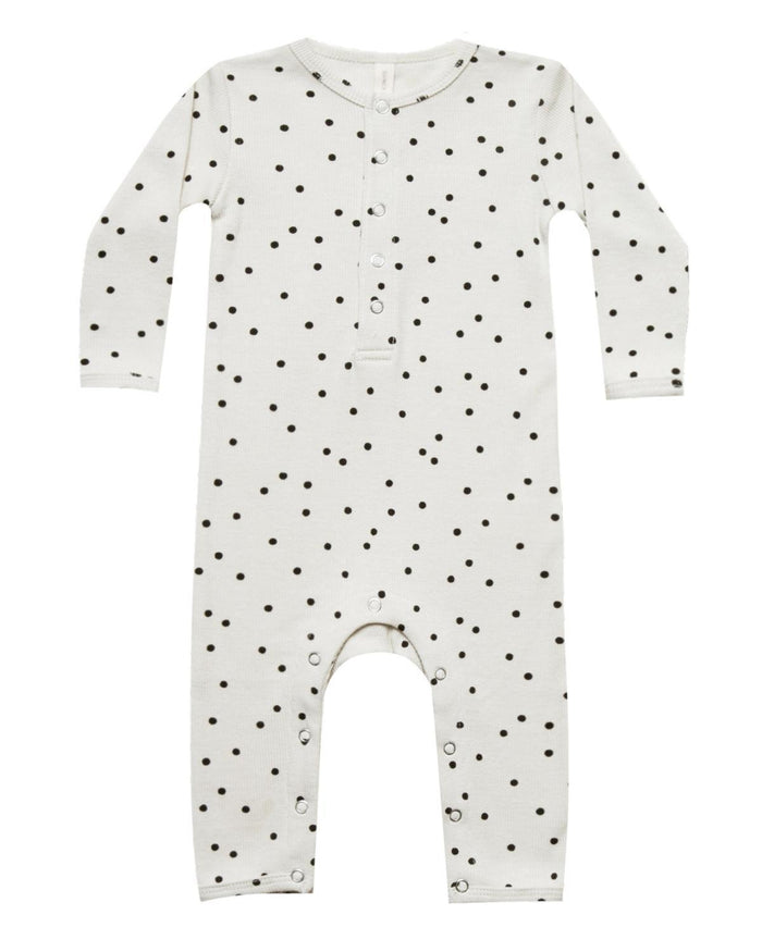 Little quincy mae baby girl 0-3 ribbed baby jumpsuit in pebble