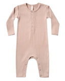 Little quincy mae baby girl ribbed baby jumpsuit in petal