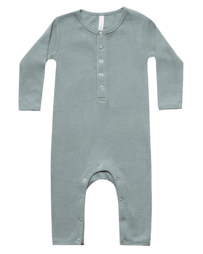 Little quincy mae baby girl 0-3 ribbed baby jumpsuit in sea