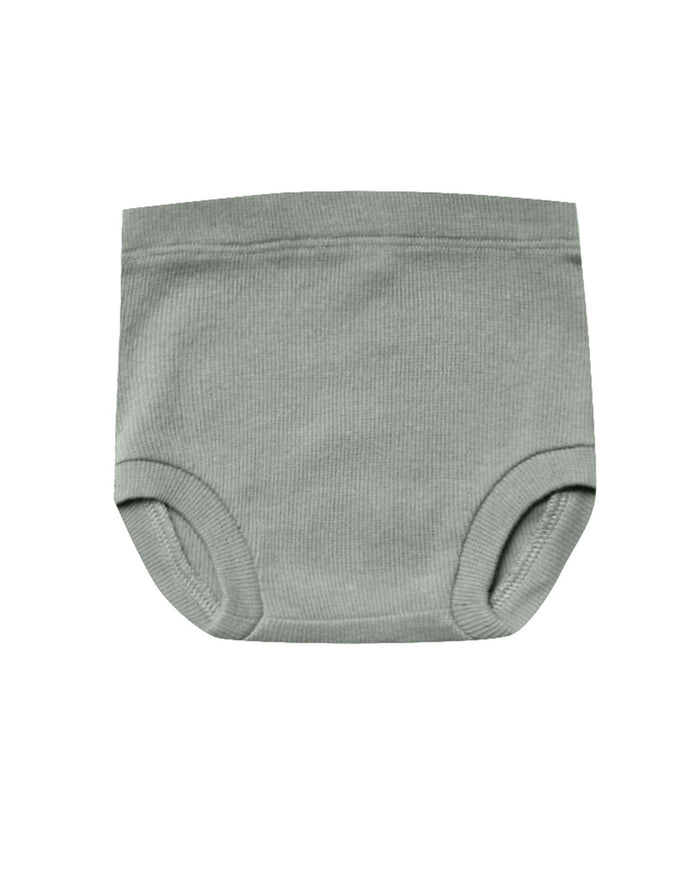 Little quincy mae baby girl ribbed bloomer in eucalyptus