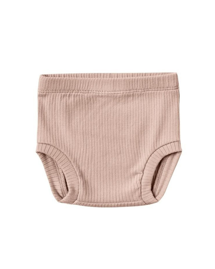 Little quincy mae baby girl ribbed bloomer in petal