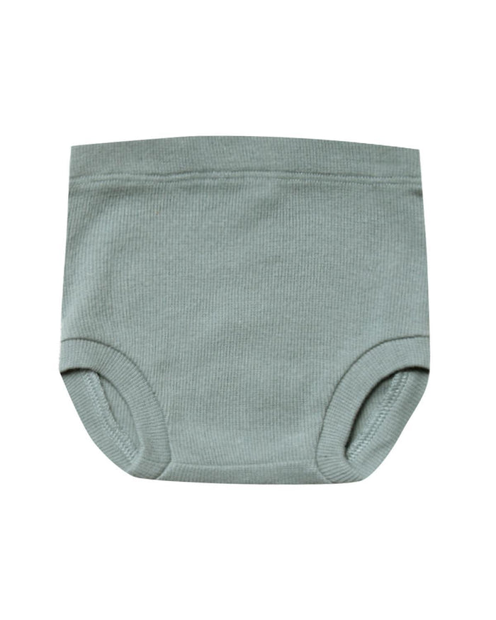 Little quincy mae baby girl 0-3 ribbed bloomer in sea