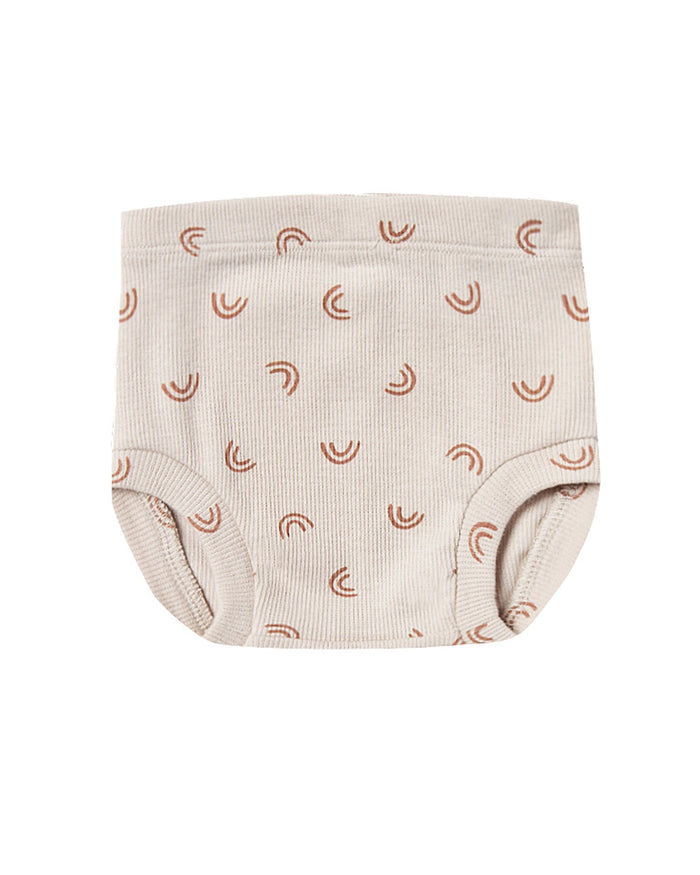 Little quincy mae baby girl ribbed bloomer in stone