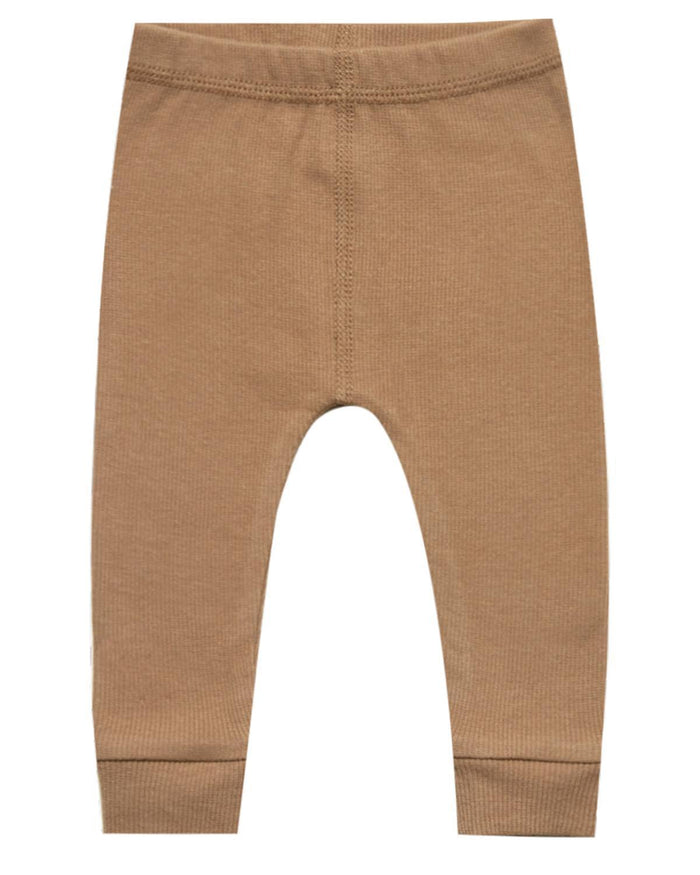Little quincy mae baby girl 0-3 ribbed legging in copper