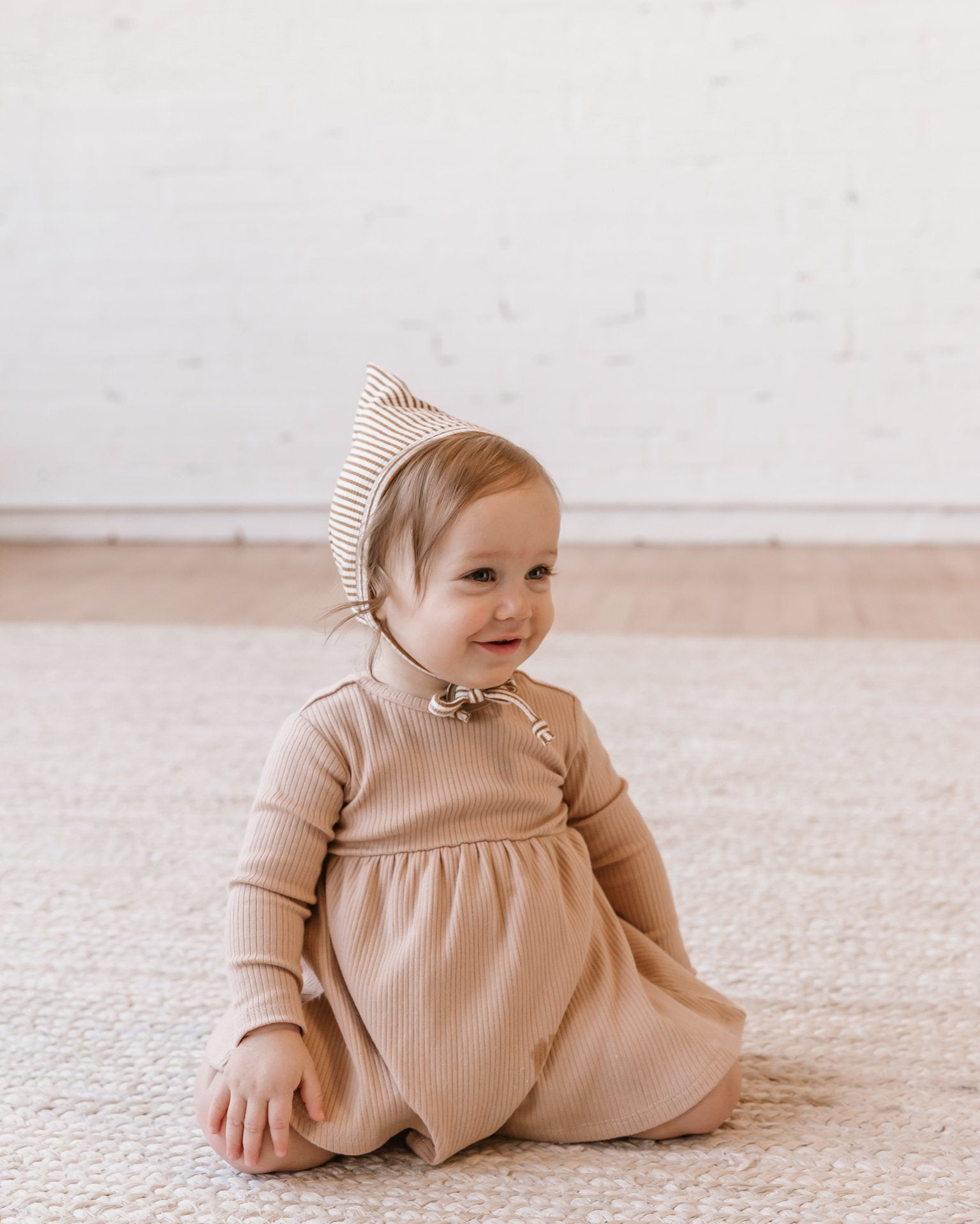 Quincy Mae Ribbed Pixie Bonnets 24 Months