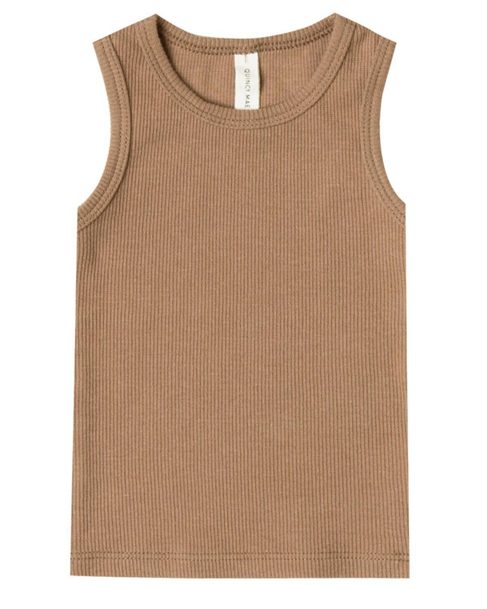 Little quincy mae baby girl 0-3 ribbed tank in copper
