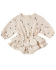 Little quincy mae baby girl rosie romper in natural