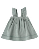 Little quincy mae baby girl ruffled tube dress in ocean