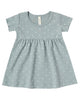 Little quincy mae baby girl short sleeve baby dress in ocean