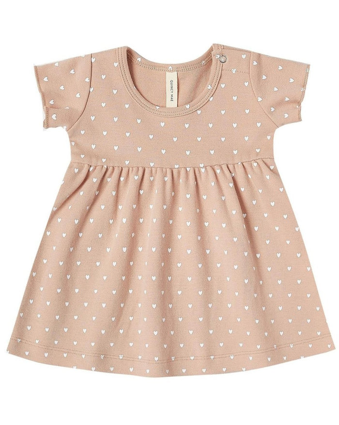 Little quincy mae baby girl short sleeve baby dress in petal