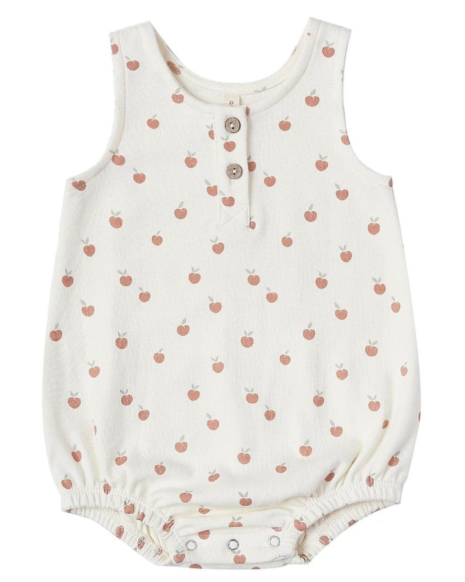 Little quincy mae baby girl sleeveless bubble in ivory + peach