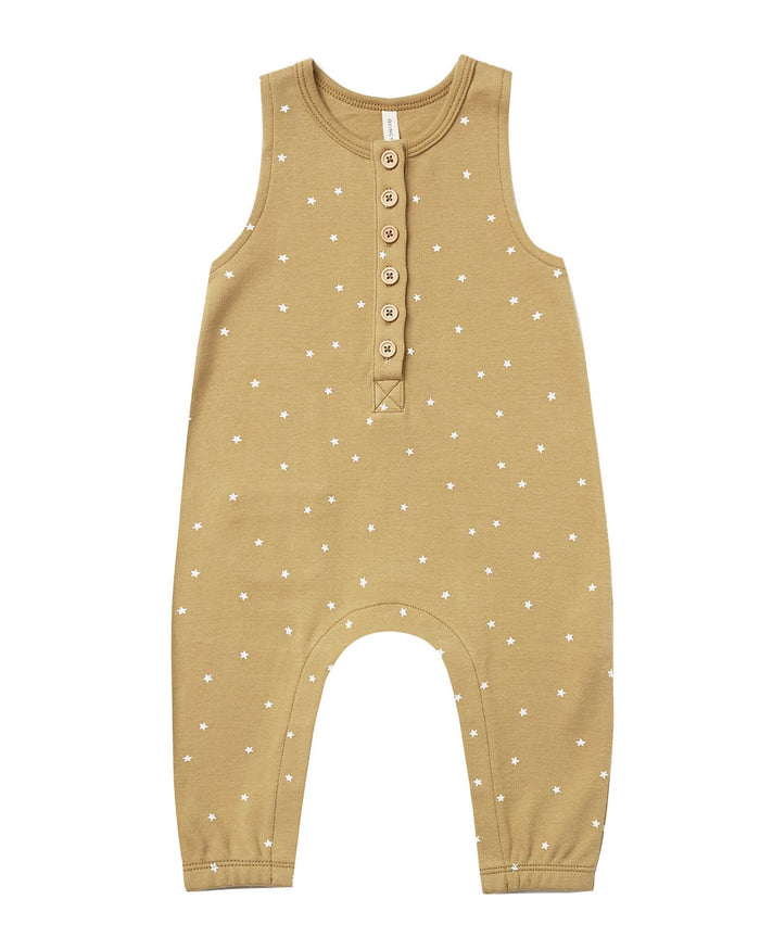 Little quincy mae baby girl sleeveless jumpsuit in gold