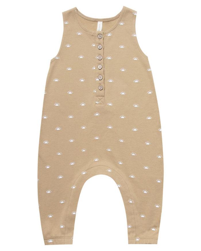 Little quincy mae baby girl 0-3 sleeveless jumpsuit in honey