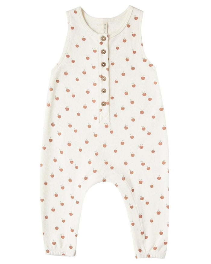Little quincy mae baby girl sleeveless jumpsuit in ivory + peach