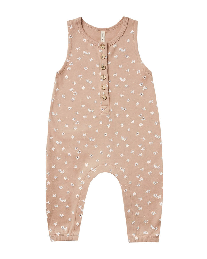 Little quincy mae baby girl sleeveless jumpsuit in petal