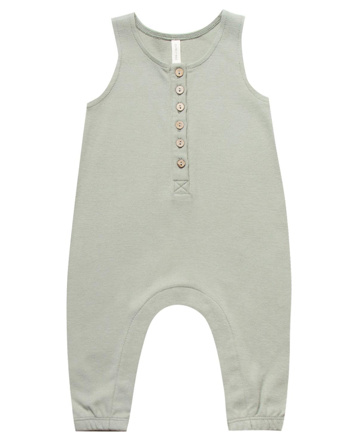 Little quincy mae baby girl 0-3 sleeveless jumpsuit in sage