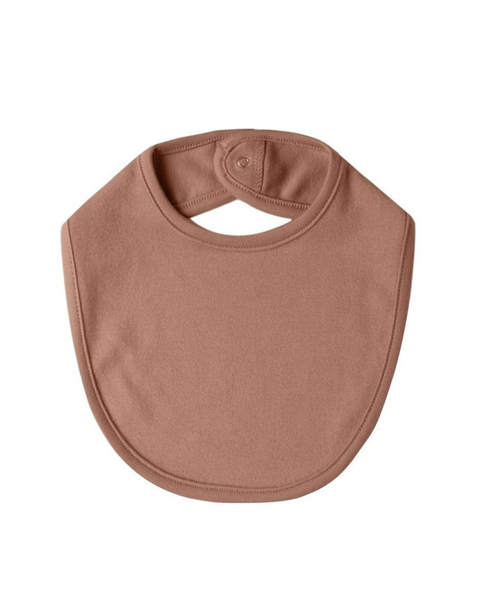 Little quincy mae baby accessories os snap bib in clay