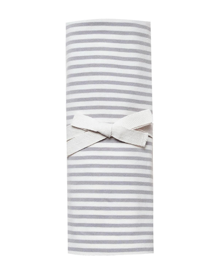 Little quincy mae baby accessories swaddle in grey stripe