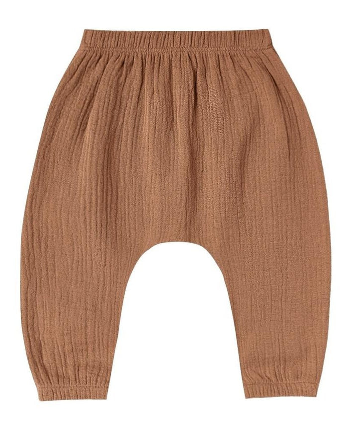 Little quincy mae baby girl woven harem pant in rust