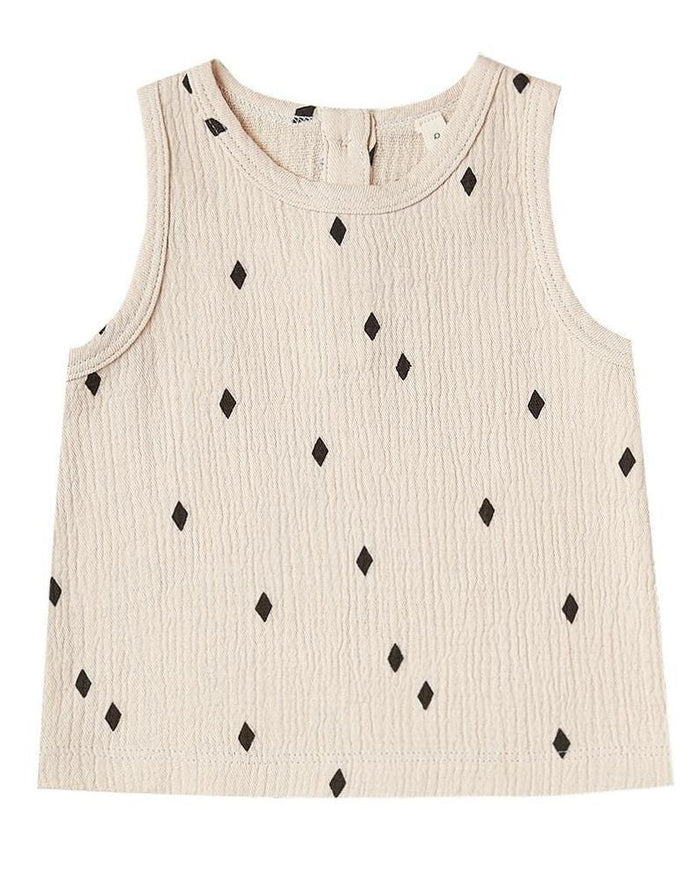 Little quincy mae baby girl woven tank in natural