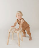 Little quincy mae baby girl woven tank in rust