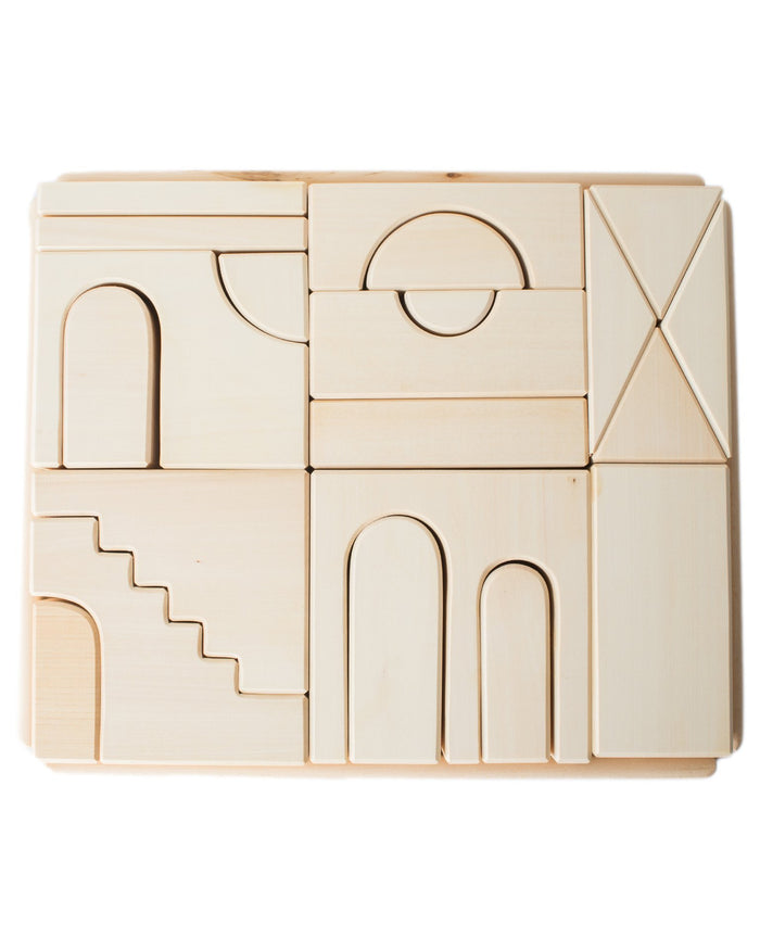 Little raduga grez play natural apartment building blocks