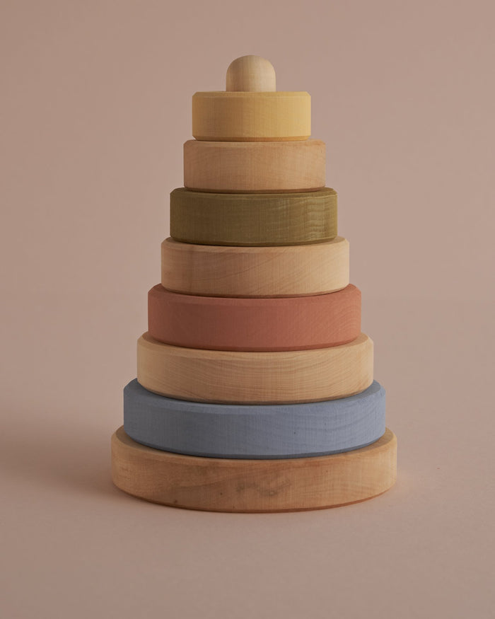 Little raduga grez play pastel earth stacking tower