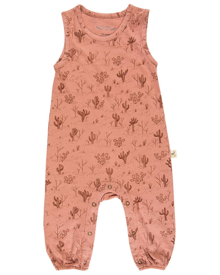 Little red caribou baby boy 0-3 cacti garden jersey tank jumpsuit