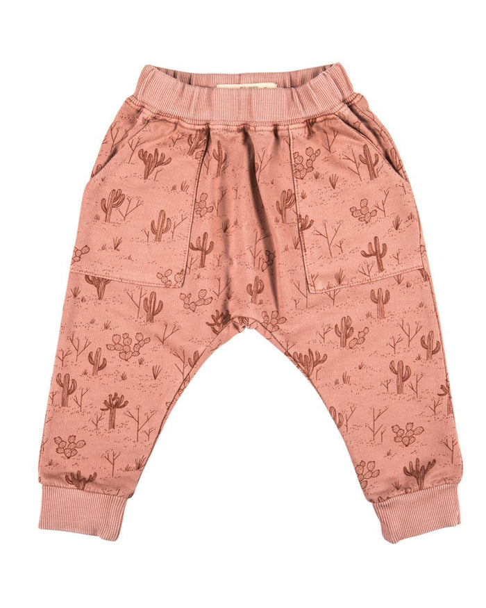 Little red caribou girl 2 cacti garden terry joggers