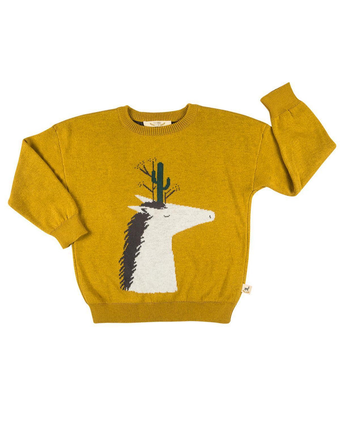 Little red caribou boy cacti horse knitted sweater