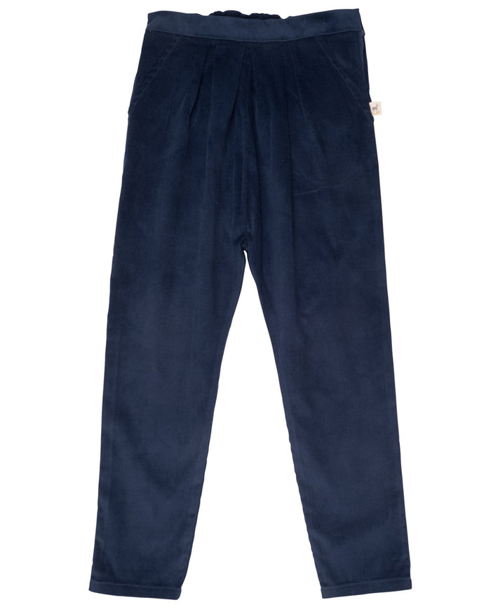 Little red caribou girl corduroy trousers in poseidon blue