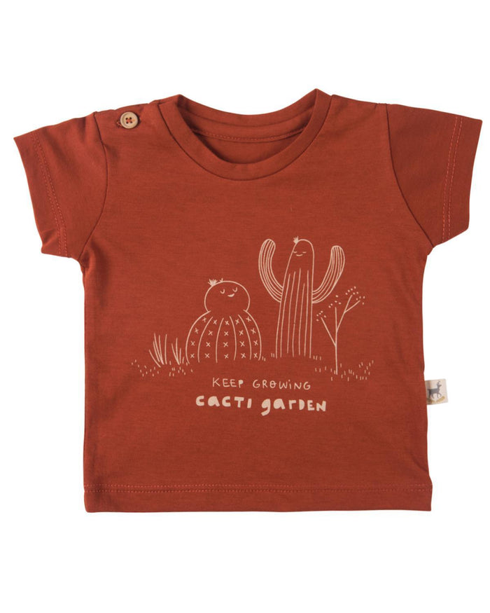 Little red caribou baby boy 0-3 keep growing baby t-shirt