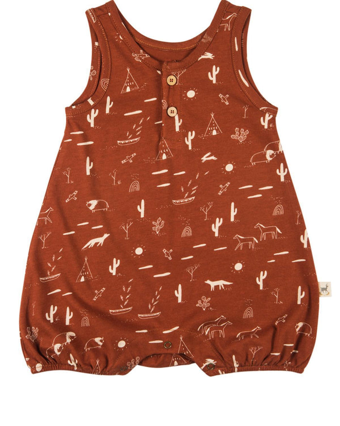 Little red caribou baby boy 0-3 native desert jersey romper