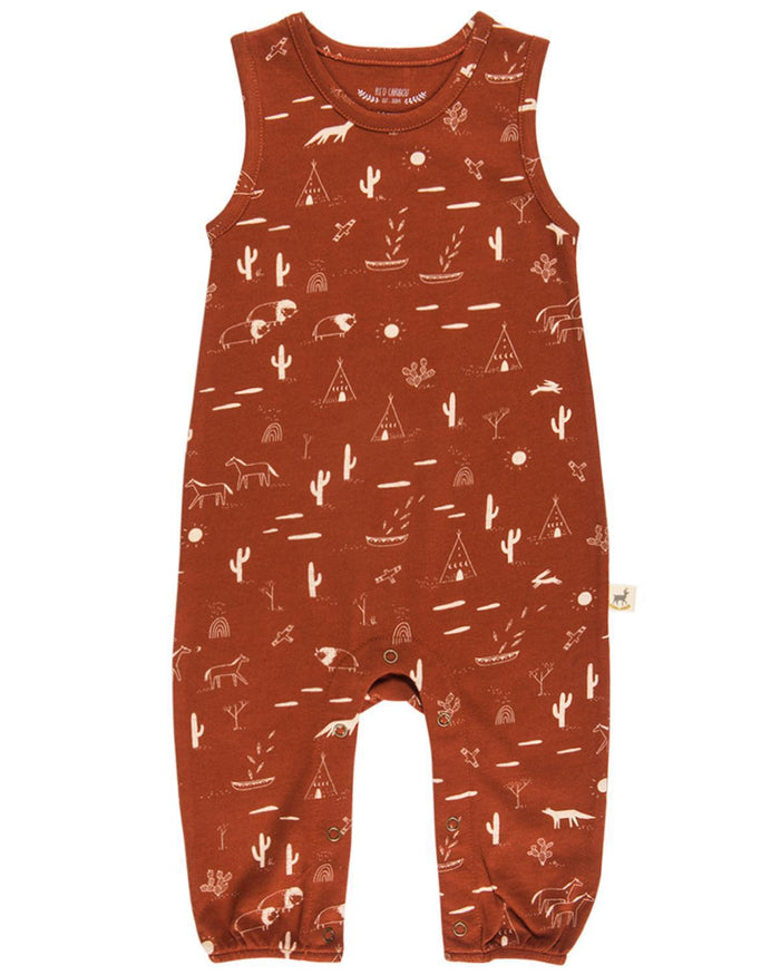 Little red caribou baby boy 0-3 native desert jersey tank jumpsuit