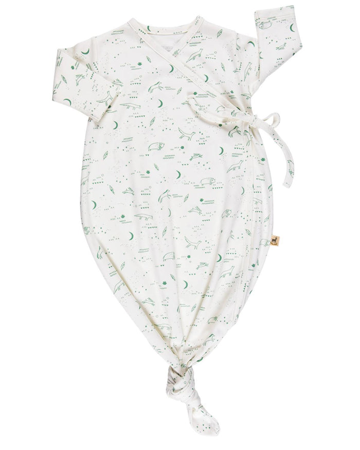 Little red caribou layette organic longsleeve ghost onesie in nocturnal adventure