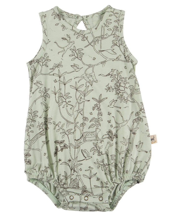 Little red caribou baby girl the canopy baggy onesie in almost aqua