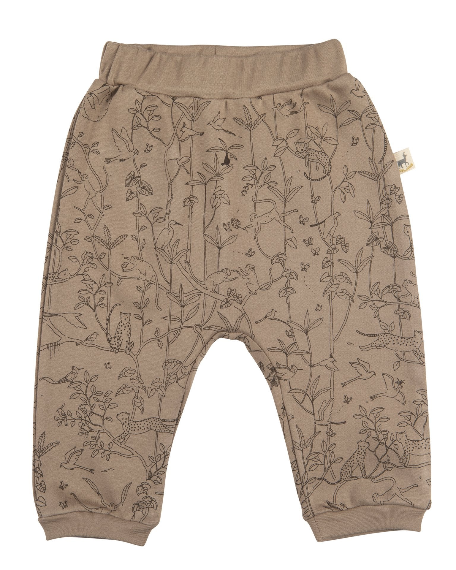 Little red caribou baby girl the canopy baggy pants in taupe