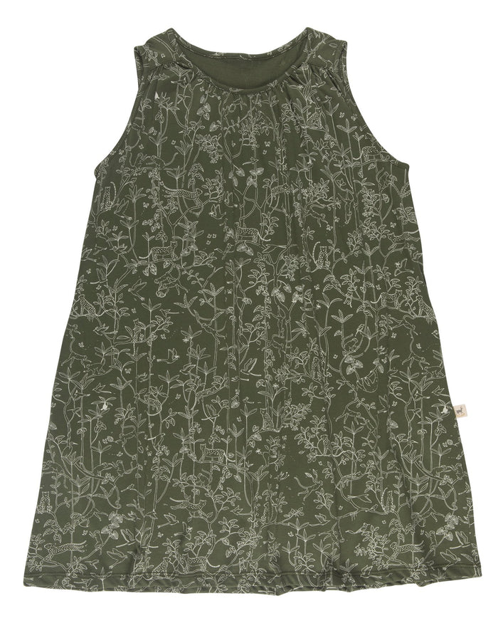 Little red caribou girl the canopy dress in chive