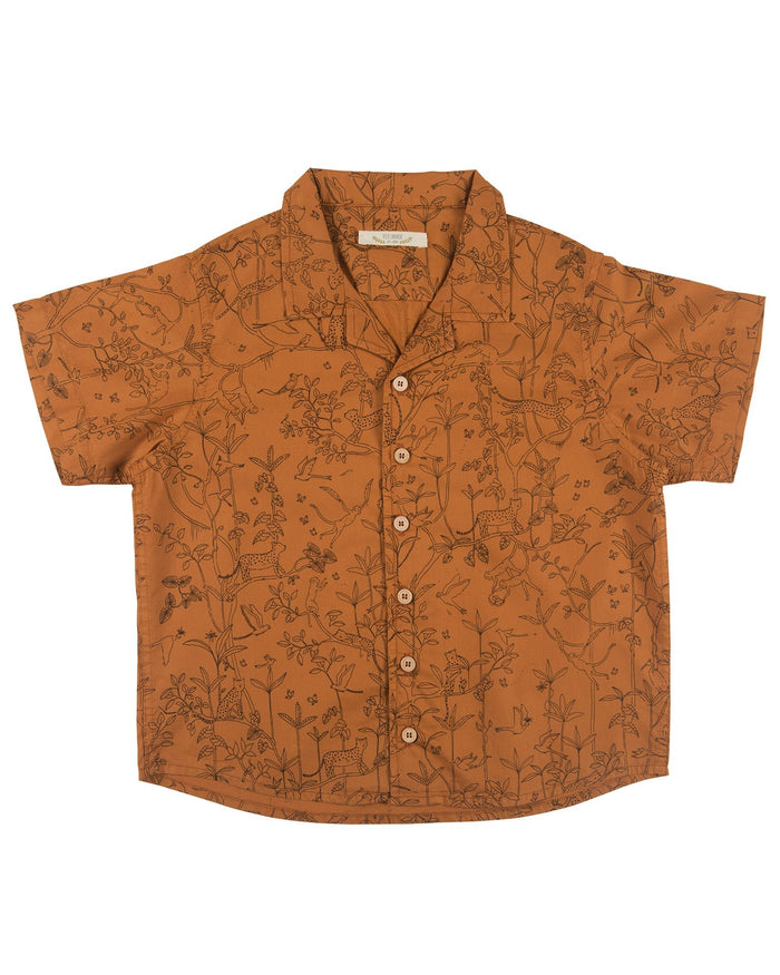 Little red caribou girl the canopy shirt in glazed ginger