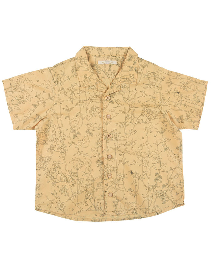 Little red caribou girl the canopy shirt in ochre