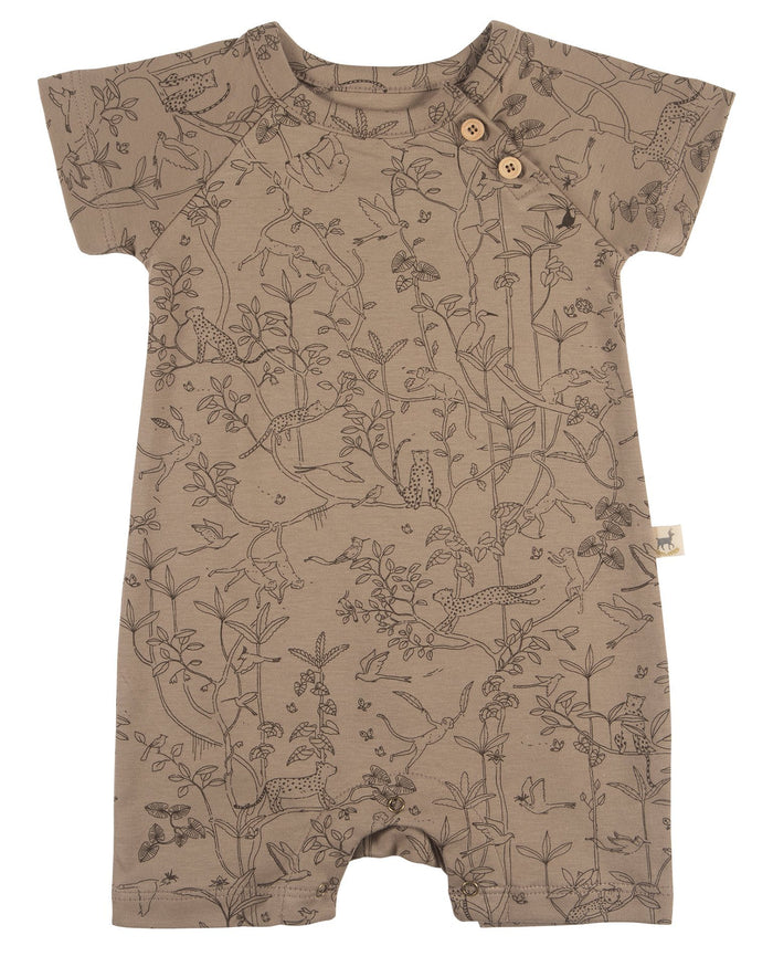 Little red caribou baby girl the canopy short sleeve jumpsuit in taupe