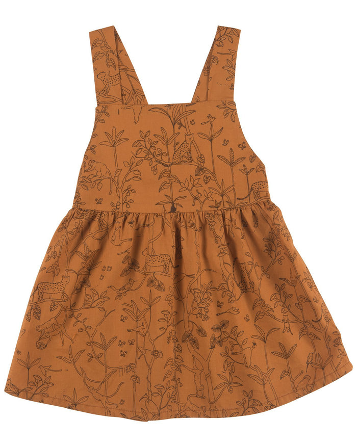 Little red caribou baby girl the canopy woven dress in glazed ginger