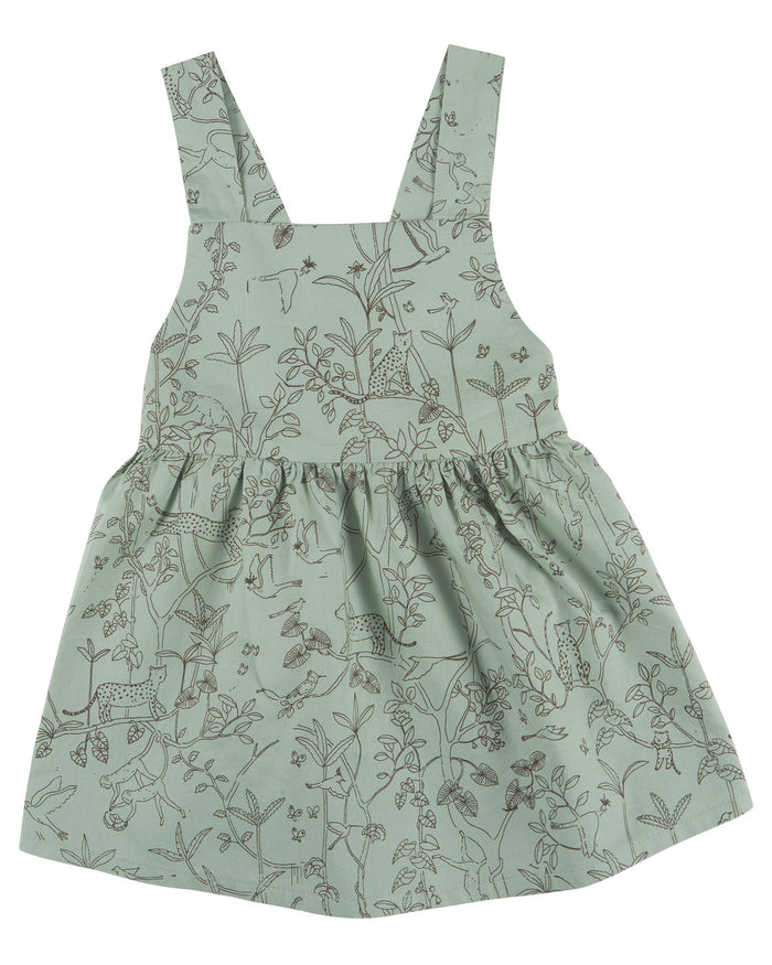 Little red caribou baby girl the canopy woven dress in jadeite