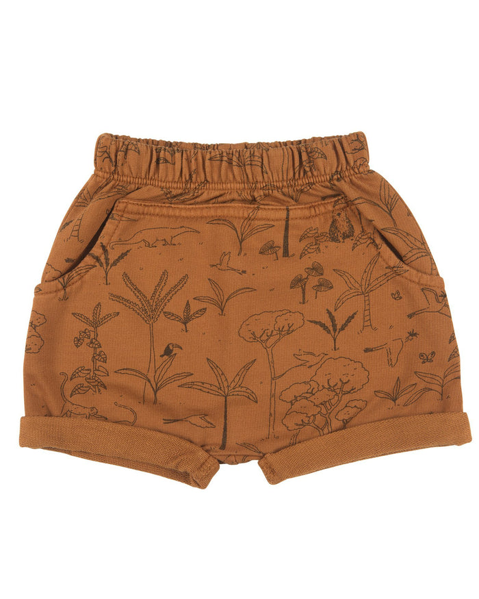 Little red caribou baby girl the story baby shorts in glazed ginger