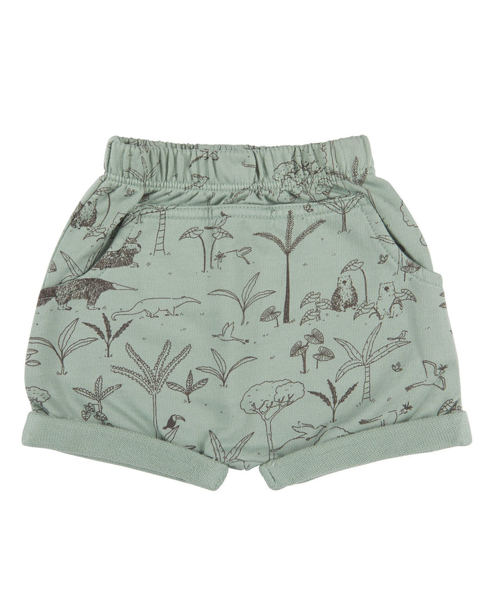 Little red caribou baby girl the story baby shorts in jadeite