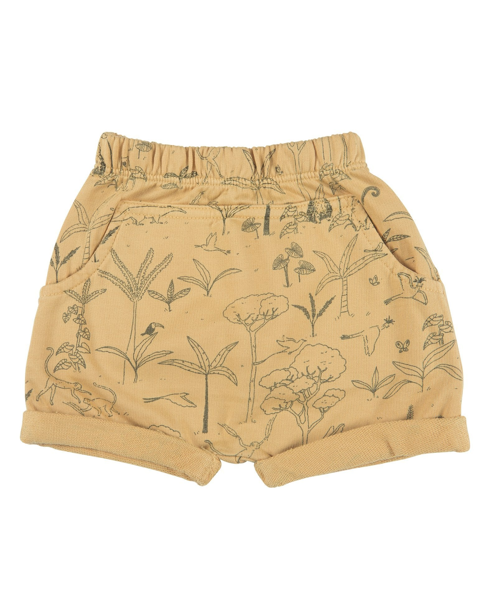 Little red caribou baby girl the story baby shorts in ochre